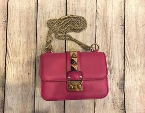 6e59001b5c Image is loading Fuchsia-Valentino-glam-rock-shoulder-bag