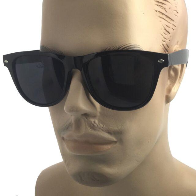 d2324e4668 MENS XL Wide Frame Limo Tint Sunglasses Tall Super Dark Lens Gangster Big  Fat