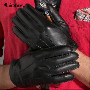 e22c82e2c53d3 new men s winter warm leather genuine gloves black driving soft ...
