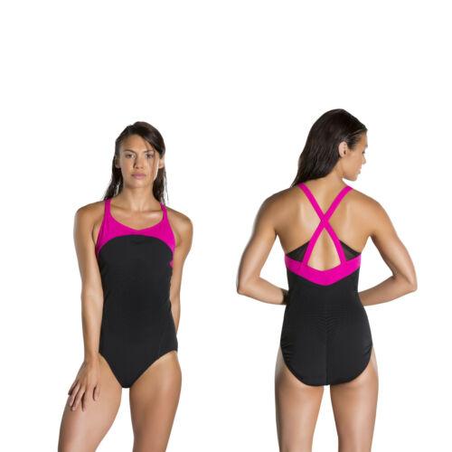 Speedo figurformender Badeanzug mit Bustier Schwimmanzug Damen Frauen Power Form