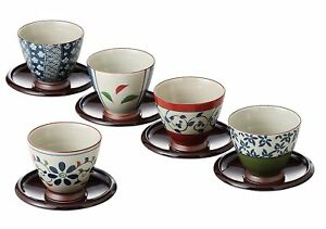 Japanese-Green-Tea-Cups-and-Sausers-Set-5-different-Design-with-Gift-Box-F-S