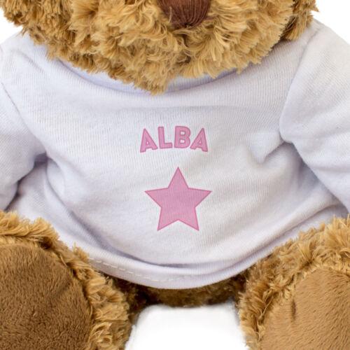 Alba Teddybär Geschenk Geburtstag Weihnachten süß und kuschelig Neu