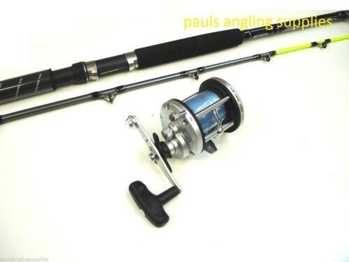 30 lb DT 7 feet  Boat Fishing Rod /& JD500 Multiplier Reel 20
