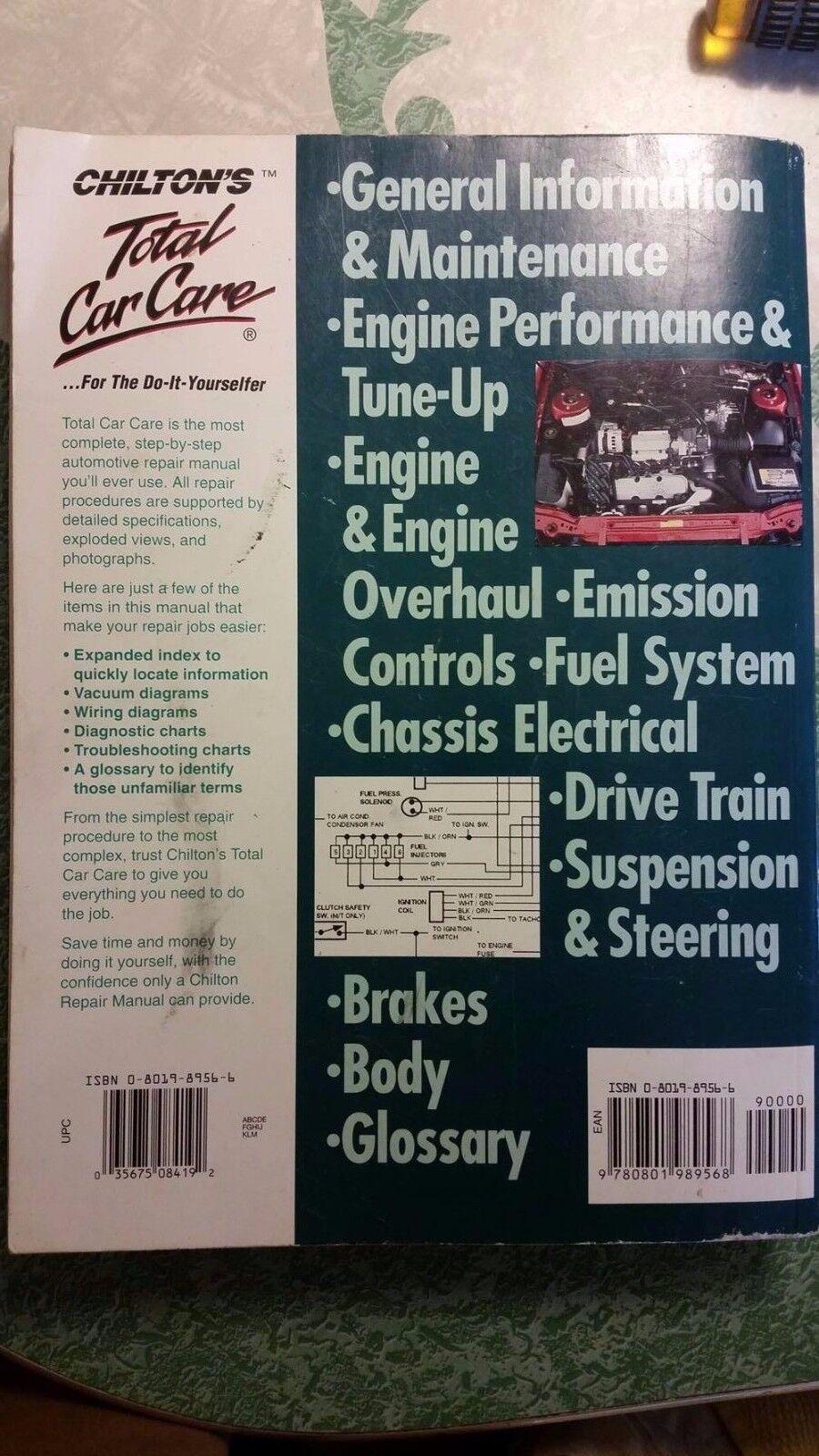 Saturn Coupes Sedans Wagons 1991 Thru 1998 Chilton Repair Manual Sw1 Engine Diagram 62300 Ebay