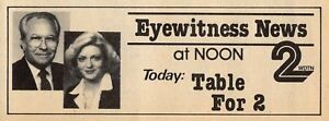 Details about 1983 TV AD~EYEWITNESS WDTN NEWS DAYTON,OHIO CHANNEL 2