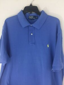 Polo-Ralph-Lauren-Men-039-s-Size-2XB-Big-amp-Tall-Polo-Shirt-Blue-100-Cotton-Pique