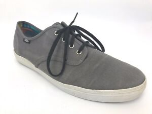 be6b0b4af4ed4 Vans Off The Wall Shoes Mens Size 11.5 Grey Canvas TB9C Skate EXCELL ...