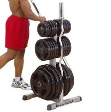 Body Solid OLYMPIC PLATE TREE & BAR HOLDER Weight Rack GOWT