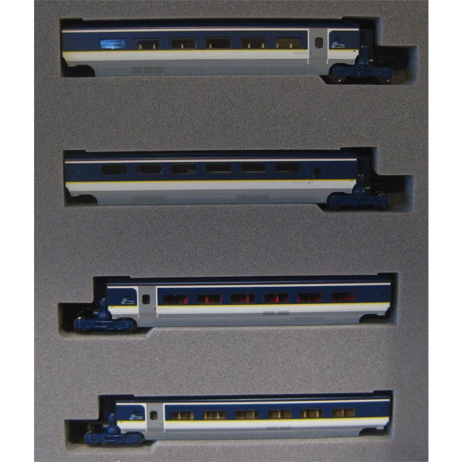 Kato 10-1298 Eurostar Color E300 4 Cars Add-On Set - N