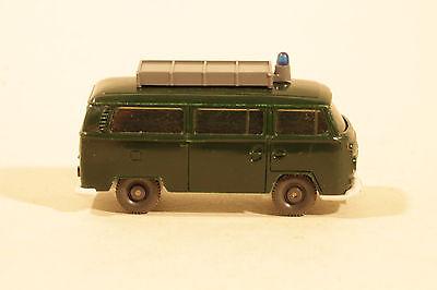 1087 Tipo B Wiking Carrello Polizia Vw T2 1967 - 1968/in Aroma Di Bosco E Basalto Grigio- Per Vincere Una Grande Ammirazione