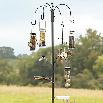 Wild Bird Garden Patio Tree Feeding Station Nuts or Fat Balls For Seeds