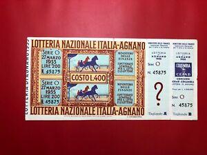Lottery-Riding-by-Agnano-1955-L-500-Award-100-Million-with-Service-Very-RAR