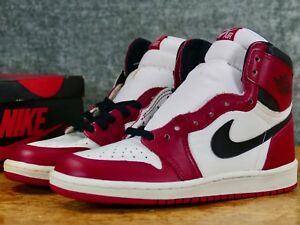 75d443b7584522 NEW IN BOX 1985 Nike Air Jordan 1 Sz 7 White Black-Red - original ...