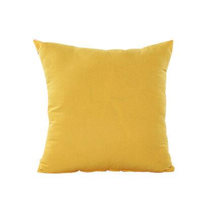 "18"" Tropical Plant Floral Leaves Pillow Case Cotton Cushion Cover Car Home Decor"