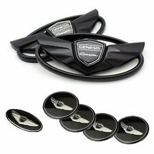 3D Black 7pc Set Emblem Made in Korea (Fits: Hyundai 2010-2015 Genesis Coupe)