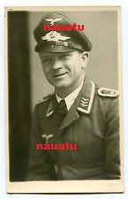 Foto Portrait Luftwaffe Feldwebel mit Schirmmütze