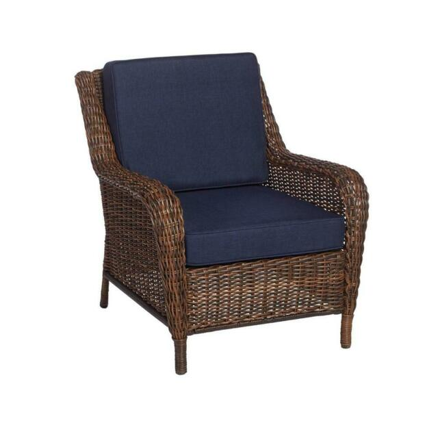 Stationary Wicker Outdoor Lounge Chair