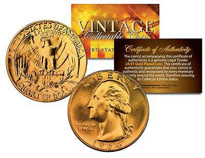 Bicentennial 1976 Quarters US Coins 24K GOLD PLATED w//Capsules /& COA *Lot of 10*