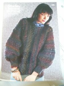 Ladies-Lacey-Jumper-Knitting-Pattern-32-38-034-No-1404-NEW-Last-One
