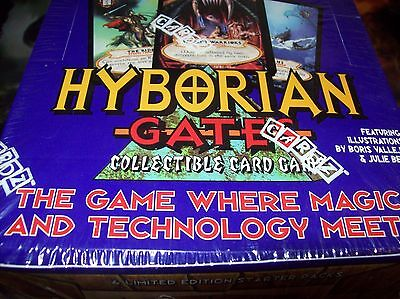1995 Hyborian Gates Collectible Card Game Unopened Starter Deck Box 6ct Cardz