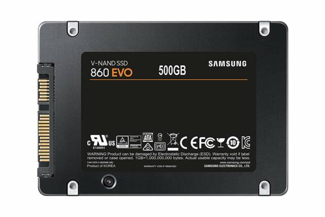 NEW Samsung 860 EVO 500GB SATA Solid State Drive MZ-76E500B/AM SSD w/ Warranty