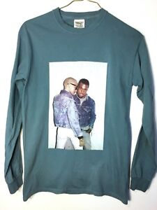 Kanye-West-Amber-Rose-Long-Sleeve-Comfort-Colors-T-Shirt-Green-Blue-Small