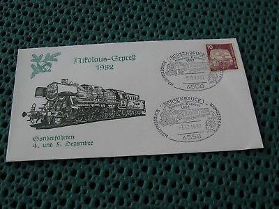 Nikolaus-express 1982 Eisnebahn Bersenbrück Sonderbrief