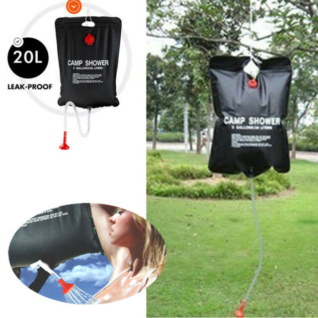 20 L/5Gallon PVC JT58 SOLAR Camping Shower Outdoor Hiking Camping Water Bag