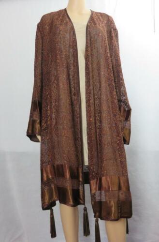 Vintage Boho-Jeanne Marc-Jacket-Duster-Coat- Brown