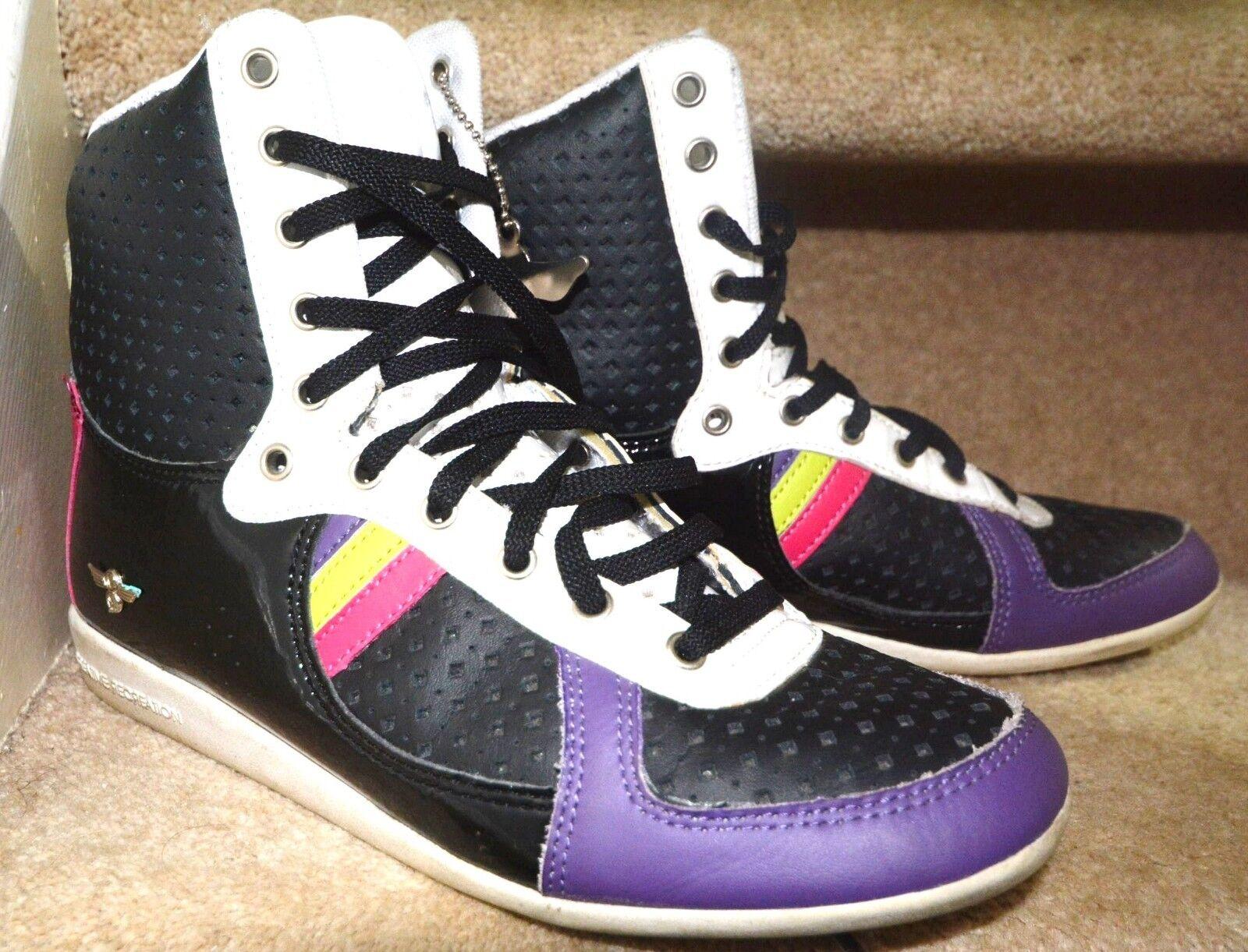Vintage Damens Galow Hightop Trainer Stiefel USA 9L Uk 7L Hip hop Creative Receatio