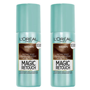 L'Oreal Paris Magic Retouch Grey Root Cover Spray Temporary 3 Brown x 2