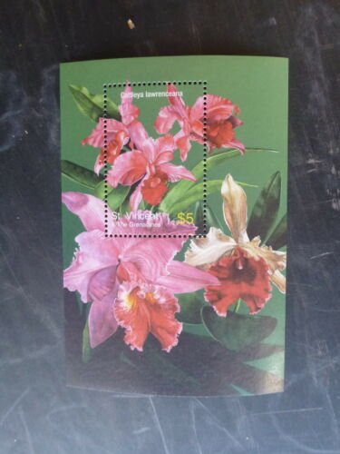 2003 St VINCENT & THE GRENADINES ORCHIDS OF THE CARIBBEAN STAMP MINI SHEET MNH