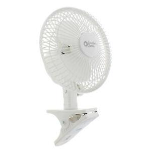"""Comfort Zone CZ6C 6"""" Quiet 2-Speed Desk Fan with Clip and Adjustable Tilt"""