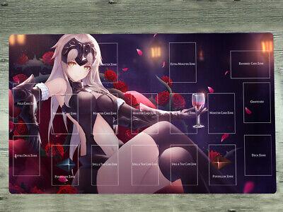 Fate//grand Order Playmat Artoria Pendragon/& Jeanne d/'Arc CCG TCG Mat Yugioh Mat