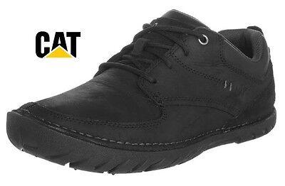 Cat Caterpillar Abilene Leather Lace-Ups Worker Shoes Black