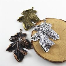6pcs Mixed Color Lots Mini Leaves Shaped Alloy Pendants Charms Jewelry Crafts