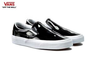 VANS-Classic-SLIP-ON-Patent-Street-Style-Fashion-Sneakers-Shoes-VN-03Z4IWN-Women