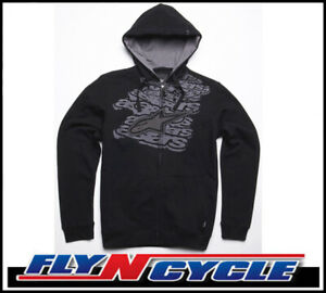New-Alpinestars-Medium-Black-Mesher-Casual-Hoody-Fleece-Med-Md