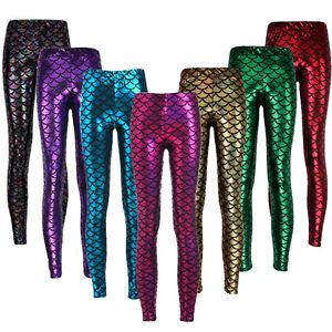 df174255014eaa hoga Women Mermaid Fish Scale Skinny Stretch Slim Hot Pants Yoga ...