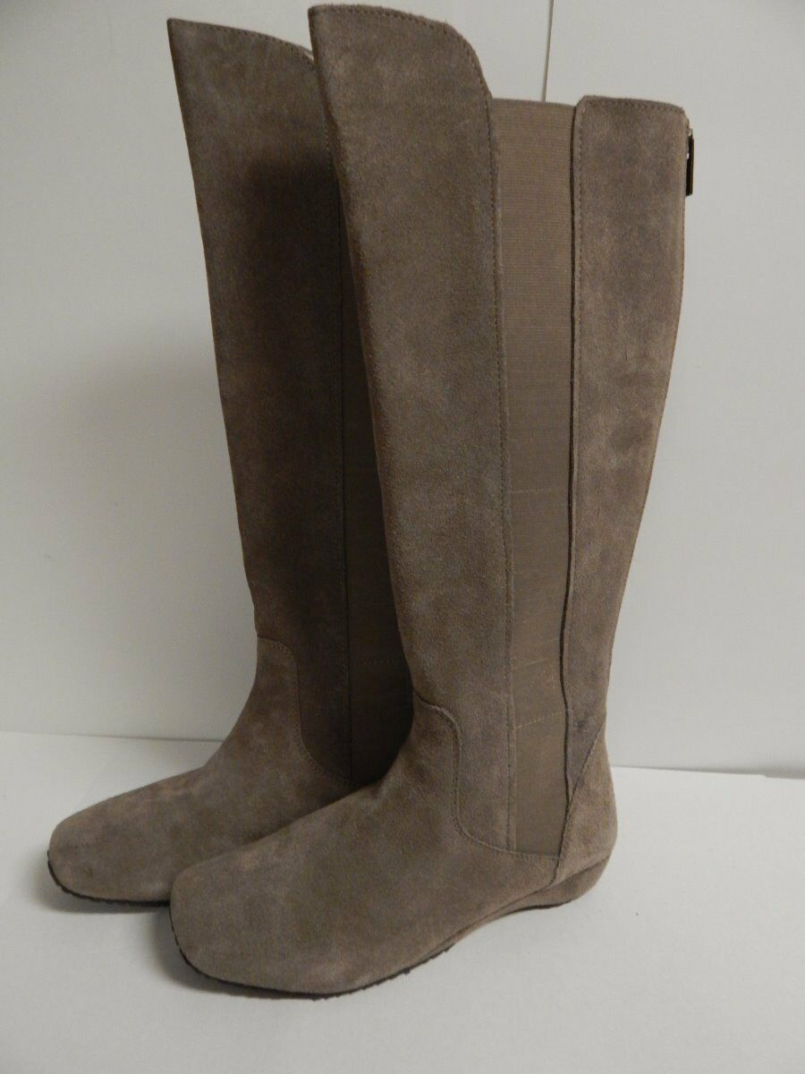 Kenneth Cole Miso Miso Miso Pretty Knee High Boot 7.5 M  Light Taupe Suede  New w Box 99fdaa