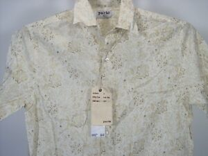 Parts-SS-Shirt-Men-039-s-Clothing-New-NWT-Small-Cream-and-Brown-34