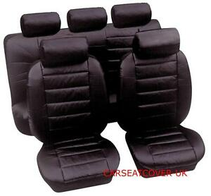 Black Leather Look Front Seat Covers For PEUGEOT 207CC