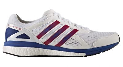 Adidas Adizero Tempo 4 Herren Laufschuhe weißblaugrün