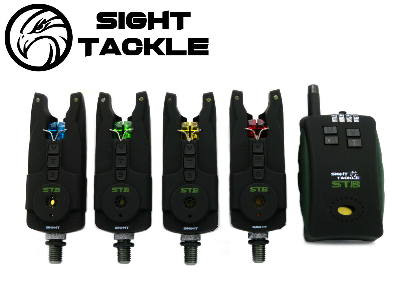 Sight Tackle STB Bite Alarm 4+1 Set NEW