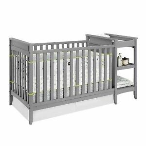 Baby Relax Emma 2 In 1 Crib And Changing Table Combo Gray One