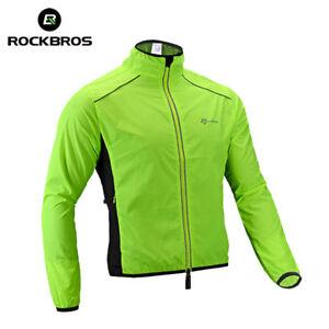 RockBros-Cycling-Coat-Wind-Coat-Polyester-Long-Jersey-Jacket-Sleeve-Green