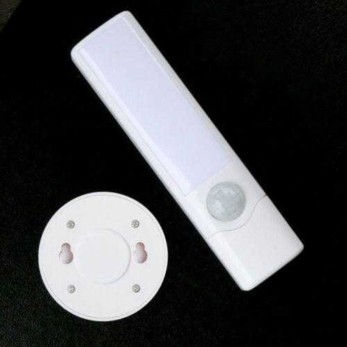 2-in-1 LED Wandleuchte mit Bewegungssensor /& Taschenlampe 8 LEDs Nachtlicht Weiß