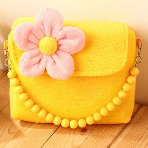 Little Girls Mini Cute 3D Flower Handbag Shoulder Bag Cross-body Bag Purse D