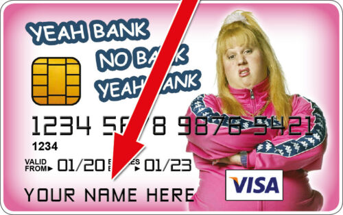 Vicky Pollard Little Britain Novelty Plastic Credit Card