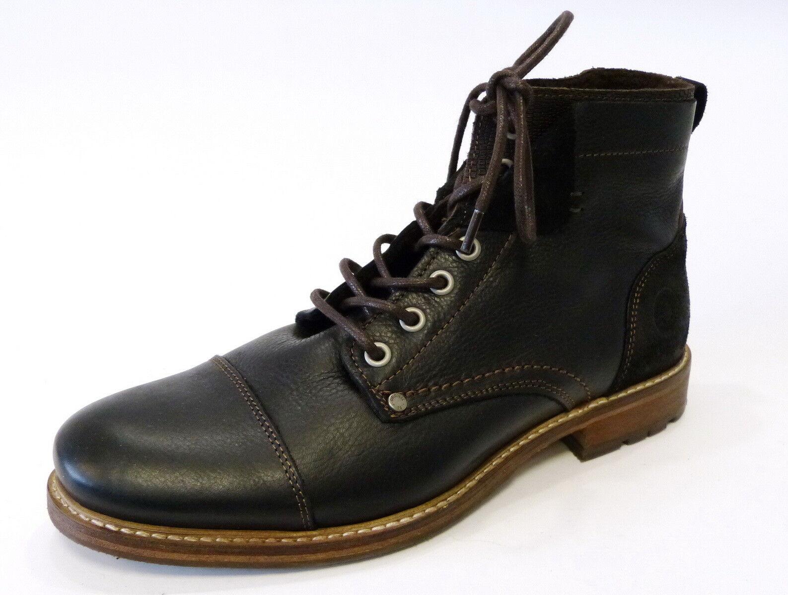 Bullboxer Trend Boot Stiefel schwarz braun Leder 565-K5-5807A-bkdb